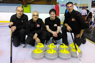 Lionel, bernard, Pierre (skip) et Marc