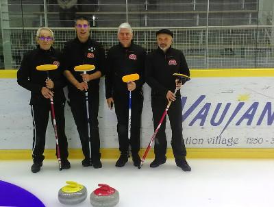 L'équipe de Lyon : André, Marc, Bruno (Nice) et Guy