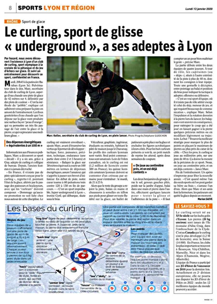 Le curling, sport de glisse « underground », a ses adeptes à Lyon